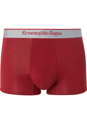 Ermenegildo Zegna - Stretch-modal Jersey Boxer Briefs - Red