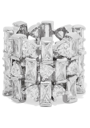 Kenneth Jay Lane - Silver-tone Cubic Zirconia Ring - 6