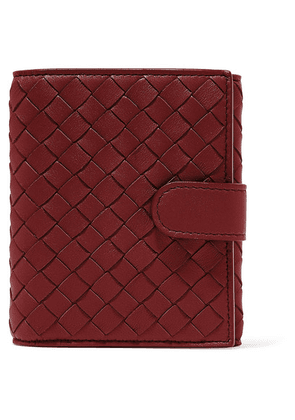 Bottega Veneta - Intrecciato Leather Wallet - Burgundy