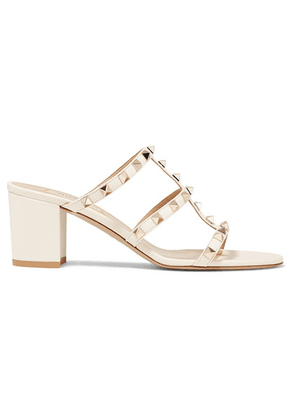 Valentino - Valentino Garavani The Rockstud 60 Leather Mules - Ivory