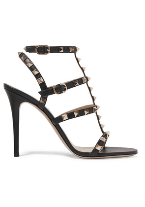 Valentino - Valentino Garavani The Rockstud 105 Leather Sandals - Black