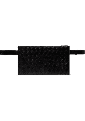 Bottega Veneta - Intecciato Leather Belt Bag - Black