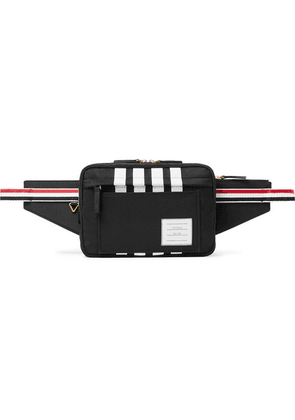 Thom Browne - Striped Grosgrain-trimmed Nylon Belt Bag - Black
