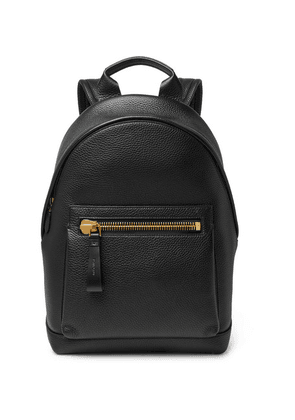 TOM FORD - Buckley Full-grain Leather Backpack - Black