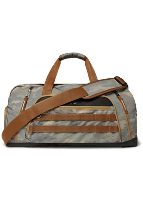Indispensable - Jam-pac Camouflage-print Mesh And Nylon-ripstop Holdall - Gray