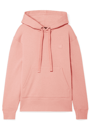 Acne Studios - Ferris Face Appliquéd Cotton-jersey Hoodie - Blush