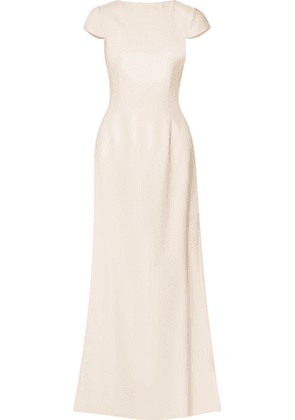 Halfpenny London - Fern Open-back Crepe Gown - Ivory