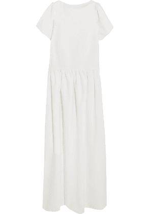 Halfpenny London - Stella Drop-waist Crepe De Chine Gown - White