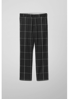 Checked Trousers - Black