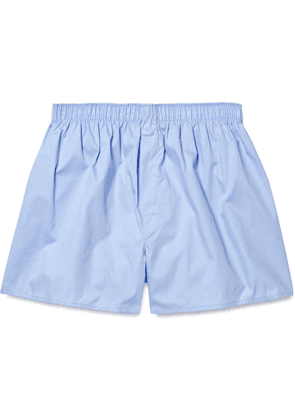 Sunspel - Cotton Boxer Shorts - Light blue