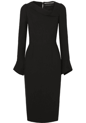 Roland Mouret - Liman Fluted Crepe Dress - Black