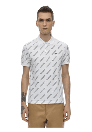 Allover Logo Cotton Polo