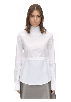 Back-to-front Cotton Poplin Shirt