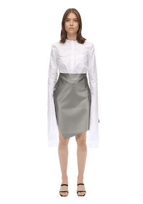 Cotton Poplin Shirt W/ Extended Sleeves