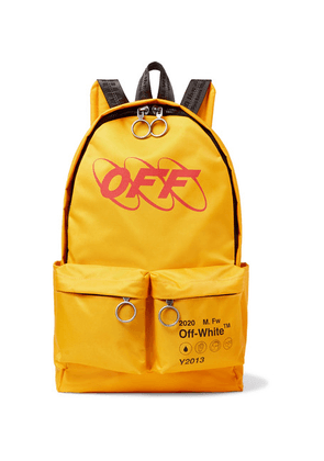 Off-White - Y013 Logo-print Shell Backpack - Yellow