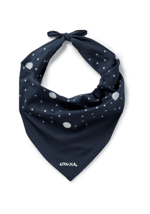 Blue Blue Japan - Polka-dot Cotton Bandana - Navy