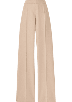 Max Mara - Obbia Camel Hair And Cashmere-blend Straight-leg Pants - Beige