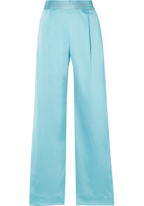 Stine Goya - Jelena Satin Wide-leg Pants - Sky blue