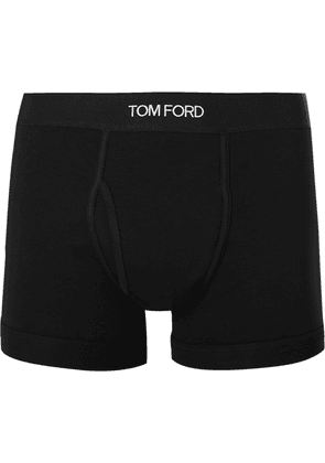 TOM FORD - Stretch-cotton Boxer Briefs - Black