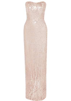 Jenny Packham - Mirabelle Sequined Tulle Gown - Blush