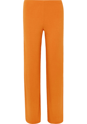 LESET - French Terry Wide-leg Pants - Orange