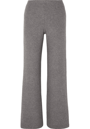 LESET - Lori Two-tone Brushed Stretch-jersey Wide-leg Pants - Gray