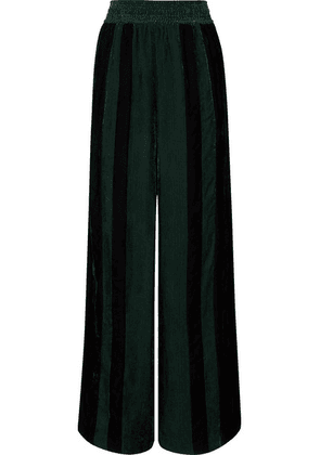 Golden Goose - Sophie Striped Corduroy Wide-leg Pants - Green