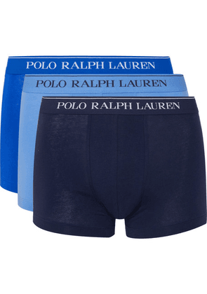 Polo Ralph Lauren - Three-pack Stretch-cotton Jersey Boxer Briefs - Blue