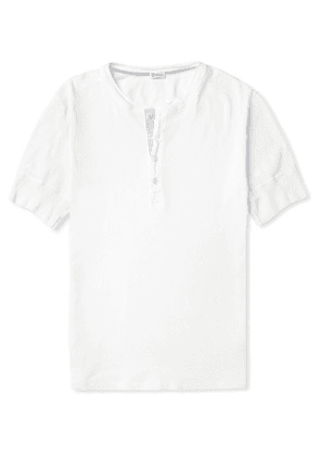 Schiesser - Karl Cotton-jersey Henley T-shirt - White