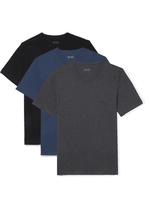 Hugo Boss - Three-pack Cotton-jersey T-shirts - Multi