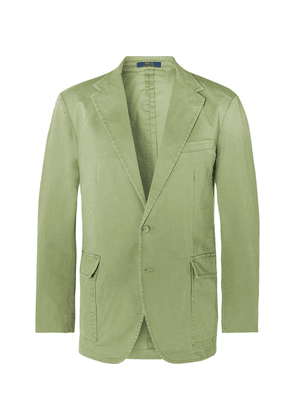 Polo Ralph Lauren - Green Slim-fit Unstructured Brushed Cotton-blend Twill Blazer - Green