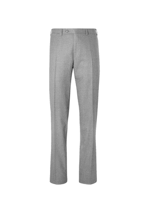 Canali - Light-grey Slim-fit Super 120s Wool Suit Trousers - Gray