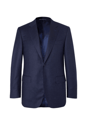 Canali - Navy Super 120s Micro-checked Wool Suit Jacket - Navy