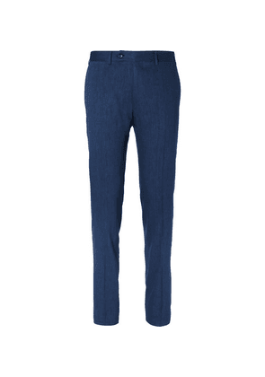 Canali - Blue Kei Slim-fit Linen And Wool-blend Suit Trousers - Blue