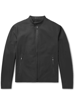 Theory - Wyndsor Slim-fit Matte-leather Moto Jacket - Charcoal