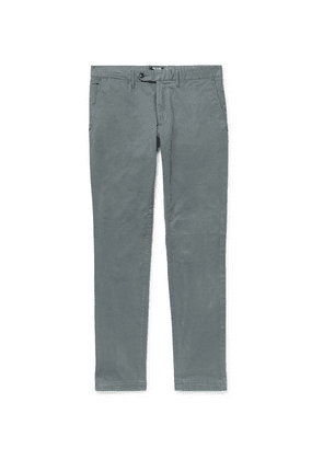 Todd Snyder - Charcoal Slim-fit Stretch-cotton Twill Chinos - Gray