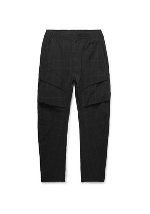 Nike - Tech Pack Tapered Checked Stretch Nylon-blend Cargo Trousers - Black