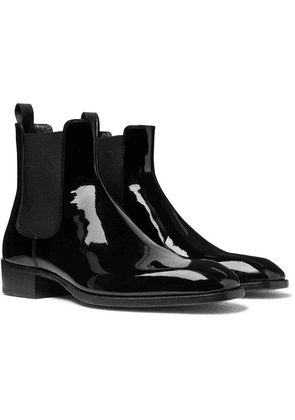 TOM FORD - Hainaut Patent-leather Chelsea Boots - Black
