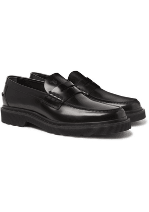 Tod's - Polished-leather Penny Loafers - Black