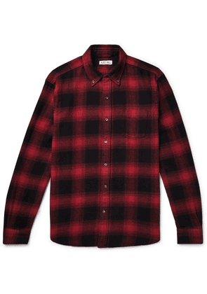 Alex Mill - Button-down Collar Checked Cotton-flannel Shirt - Red