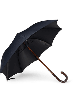 Francesco Maglia - Chestnut Wood-handle Umbrella - Midnight blue