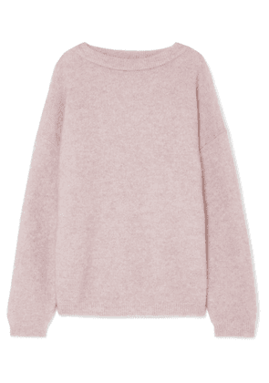 Acne Studios - Dramatic Knitted Sweater - Lilac