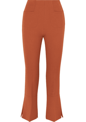 Roland Mouret - Goswell Crepe Flared Pants - Dark brown