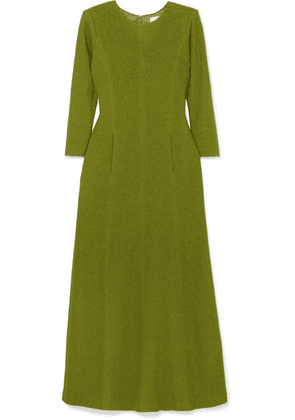 Rebecca de Ravenel - Pleated Bouclé Midi Dress - Green
