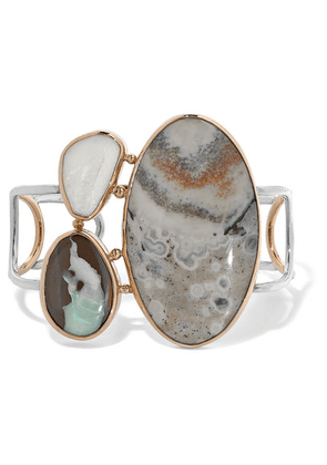 Melissa Joy Manning - 14-karat Gold And Sterling Silver, Opal And Jasper Cuff - one size