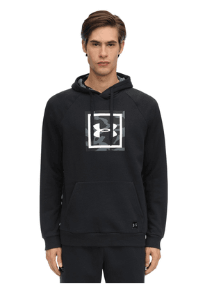 Rival Printed Cotton Blend Hoodie