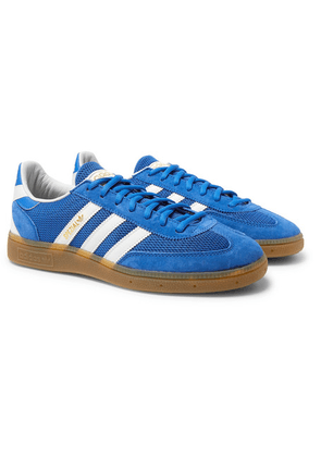 adidas Originals - Handball Spezial Suede, Mesh And Leather Sneakers - Blue