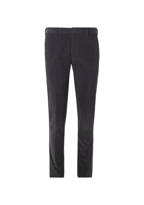 Paul Smith - Grey Slim-fit Cotton And Cashmere-blend Corduroy Trousers - Gray