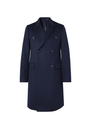 Paul Smith - Slim-fit Double-breasted Wool And Cashmere-blend Overcoat - Blue