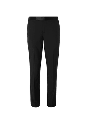 Paul Smith - Black Soho Slim-fit Satin-trimmed Wool And Mohair-blend Suit Trousers - Black